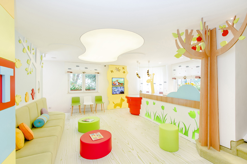 La decoración de clínica dental infantil para prevenir miedo